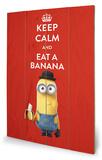 Minions - Keep Calm Panneau en bois