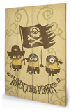 Minions - Walk The Plank Wood Sign