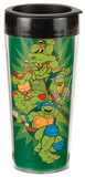 Teenage Mutant Ninja Turtles 16 oz Plastic Travel Mug Taza