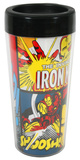 Marvel Iron Man 16 oz. Plastic Travel Mug Mug