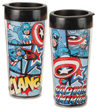 Marvel Captain America 16 oz. Plastic Travel Mug Mug