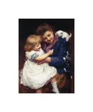 Playtime with Kittens Premium Giclee Print by Arthur Elsley