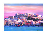 Ibiza Eivissa Old Town And Harbour Pearl Of The Mediterranean Giclee Print by Markus Bleichner
