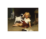 Ruff Play Premium Giclee Print by Arthur Elsley