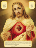The Sacred Heart of Jesus Print by  The Vintage Collection
