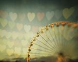 Fairground Hearts Print by Irene Suchocki