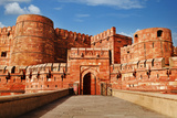 Tourists at Entrance to Agra Fort, Agra, Uttar Pradesh, India Photographic Print by  jackmicro