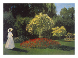 Jeanne-Marguerite Lecadre in the Garden Premium Giclee Print by Claude Monet