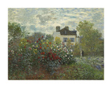 The Artist's Garden in Argenteuil Premium Giclee Print by Claude Monet