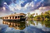 House Boat in Backwaters Photographic Print by Marina Pissarova