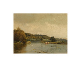 An Autumn Morning (No. 3) Premium Giclee Print by Alfred De Breanski