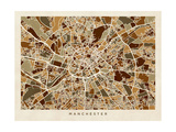 Manchester England Street Map Photographic Print by Michael Tompsett