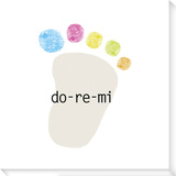 Do-Re-Mi Stretched Canvas Print by  Koconis