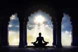 Meditating in Old Temple Reproduction photographique par Marina Pissarova