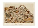 Edinburgh Street Map Photographic Print by Michael Tompsett