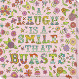 A Laugh is a Smile That Bursts Stretched Canvas Print by  Skelley