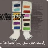 Color Wheel Legs Reproducción en lienzo de la lámina por  Koconis