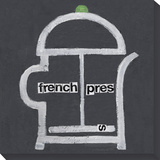 french press Stretched Canvas Print by  Koconis
