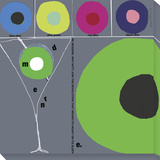 Modern Martini Stretched Canvas Print by  Koconis