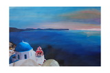 Beautiful Santorini Sunset in Oia Greece Giclee Print by Markus Bleichner