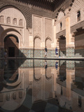 Tourists at Ben Youssef Madrasa, in the Medina in Marrakech, Morocco Photographic Print by David H. Wells