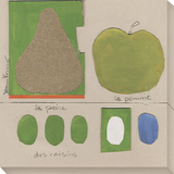 Poire Pomme Stretched Canvas Print by  Koconis
