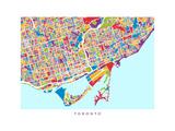 Toronto Street Map Photographic Print by Michael Tompsett