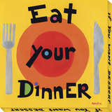Eat Your Dinner Stretched Canvas Print by  Tatutina