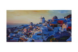 Morning Glory Oia in Santorini Greece Poster by Markus Bleichner