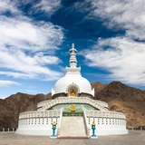 Tall Shanti Stupa near Leh - Jammu and Kashmir - Ladakh - India Photographic Print by Daniel Prudek