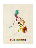 Philippines Watercolor Map Photographic Print by Michael Tompsett