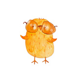 Chick in Sunglasses. Happy Day. Watercolor Prints by  wegener17