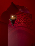 Entrance and Lantern in a Riad in the Medina, Marrakech, Morocco Photographic Print by David H. Wells