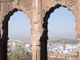 View a Town Through Arched Structure in Jodhpur, Rajasthan, India Photographic Print by David H. Wells