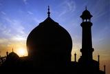 Taj Mahal White Marble Mausoleum. Photographic Print by  plotnikov