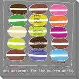 Modern Macaroons Stretched Canvas Print by  Koconis