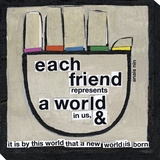 Each Friend Hand Stretched Canvas Print by  Koconis