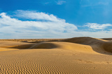 Panorama of Dunes Landscape with Dramatic Clouds in Thar Desert. Sam Sand Dunes, Rajasthan, India Photographic Print by  f9photos