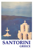 Santorini, Greece - View from Oia Retro Style Giclee Print by Markus Bleichner