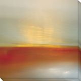 Orange Horizon Stretched Canvas Print by  Seward