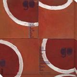Red balloon Reproducción en lienzo de la lámina por  Koconis