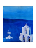 Enchanting Santorini Greece View from Oia Art by Markus Bleichner