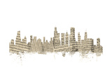 Chicago Illinois Skyline Sheet Music Cityscape Photographic Print by Michael Tompsett