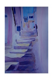 Enchanting Mykonos Greece View with Stairs Giclee Print by Markus Bleichner