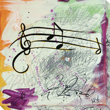 Feel the Music ... Music Notes Stretched Canvas Print by  Youngstrom