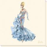 Blue Dress Barbie® 10th Anniversary Leinwand von  Best