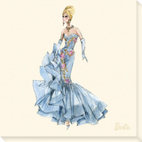 Blue Dress Barbie® 10th Anniversary Stretched Canvas Print by  Best