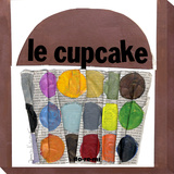Le Cupcake Stretched Canvas Print by  Koconis