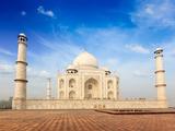 Indian Famous Landmark - India Travel Background Taj Mahal. Agra, Uttar Pradesh, India Photographic Print by  f9photos