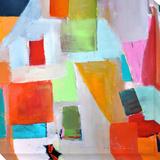 Art Abstrait Reproduction transférée sur toile par  Walzer